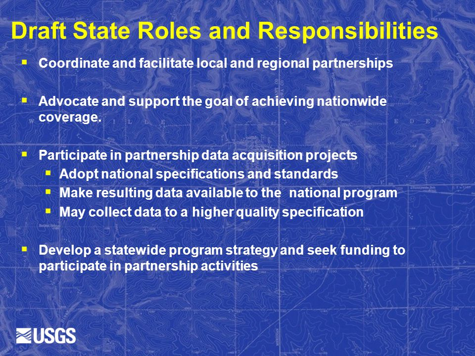 Draft State Roles and Responsibilities