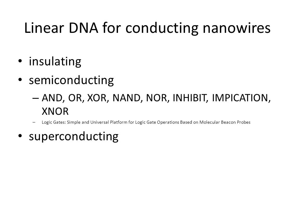 Linear DNA for conducting nanowires