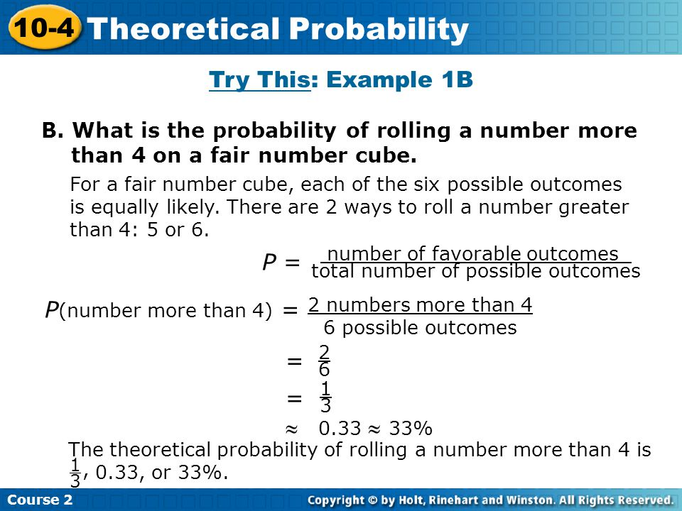 Theoretical Probability
