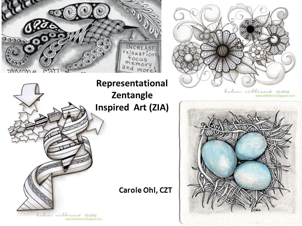Representational Zentangle Inspired Art (ZIA)