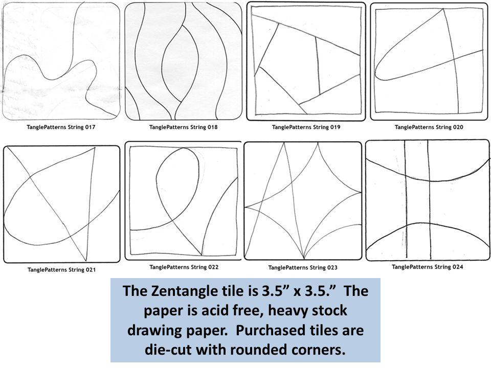 The Zentangle tile is 3. 5 x 3. 5