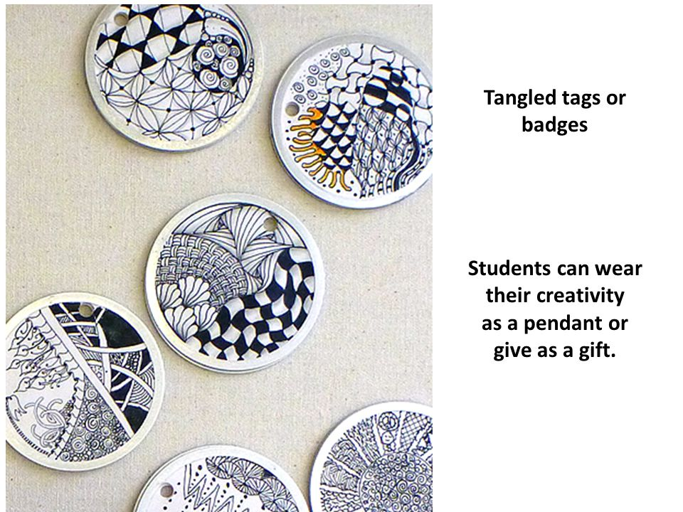 Students can wear their creativity as a pendant or give as a gift.