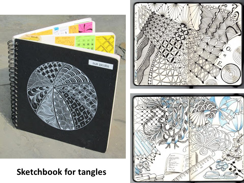 Sketchbook for tangles