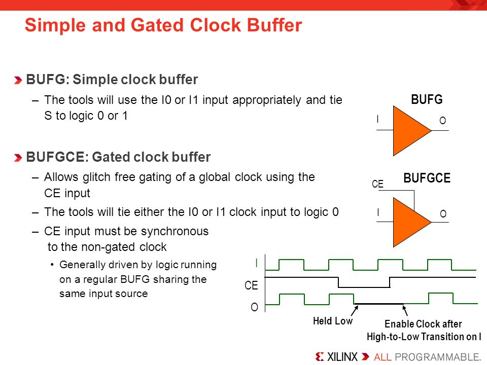 Simple and Gated Clock Buffer