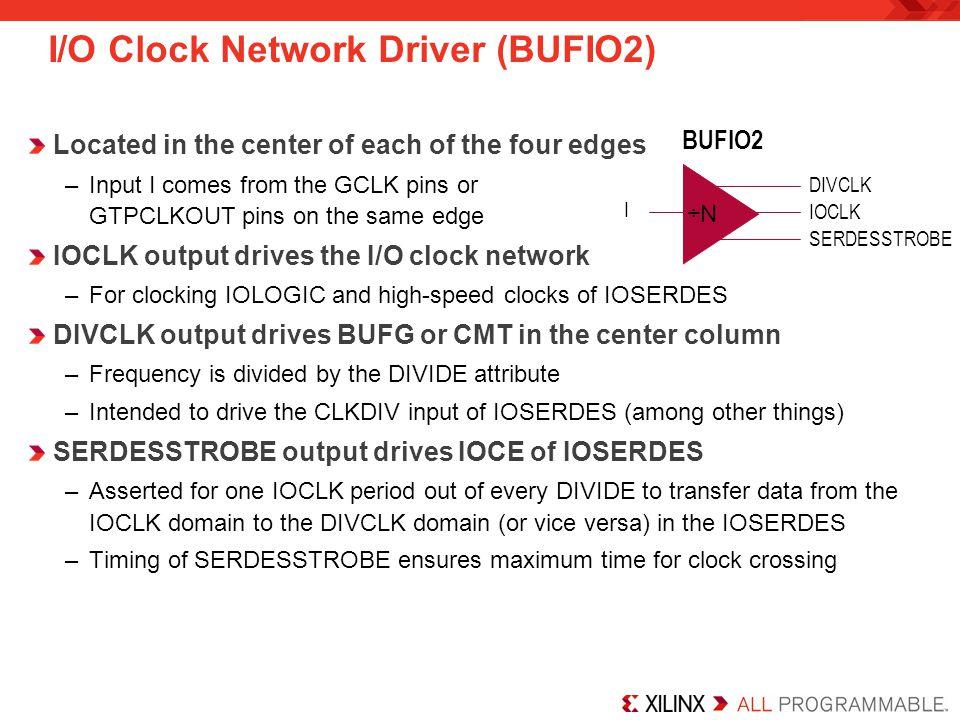 I/O Clock Network Driver (BUFIO2)