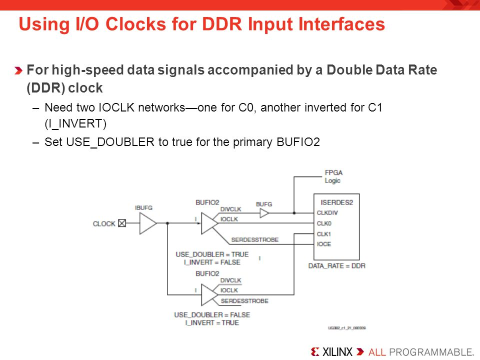 Using I/O Clocks for DDR Input Interfaces