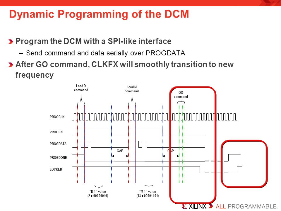 Dynamic Programming of the DCM