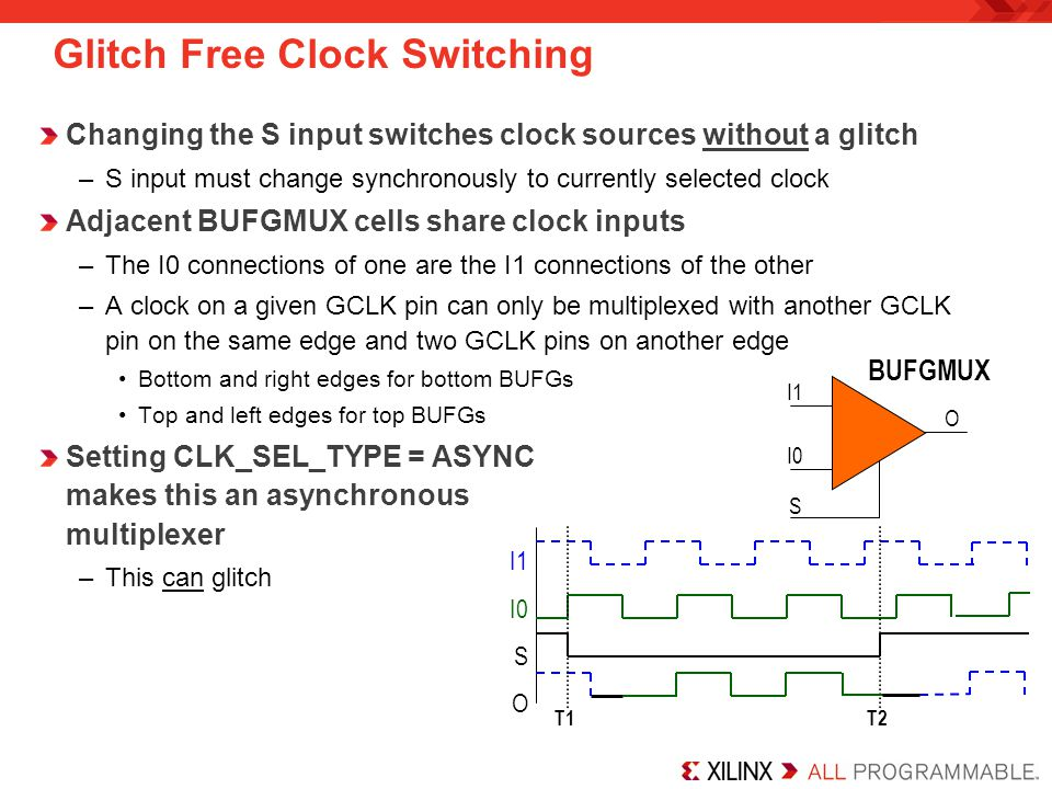 Glitch Free Clock Switching