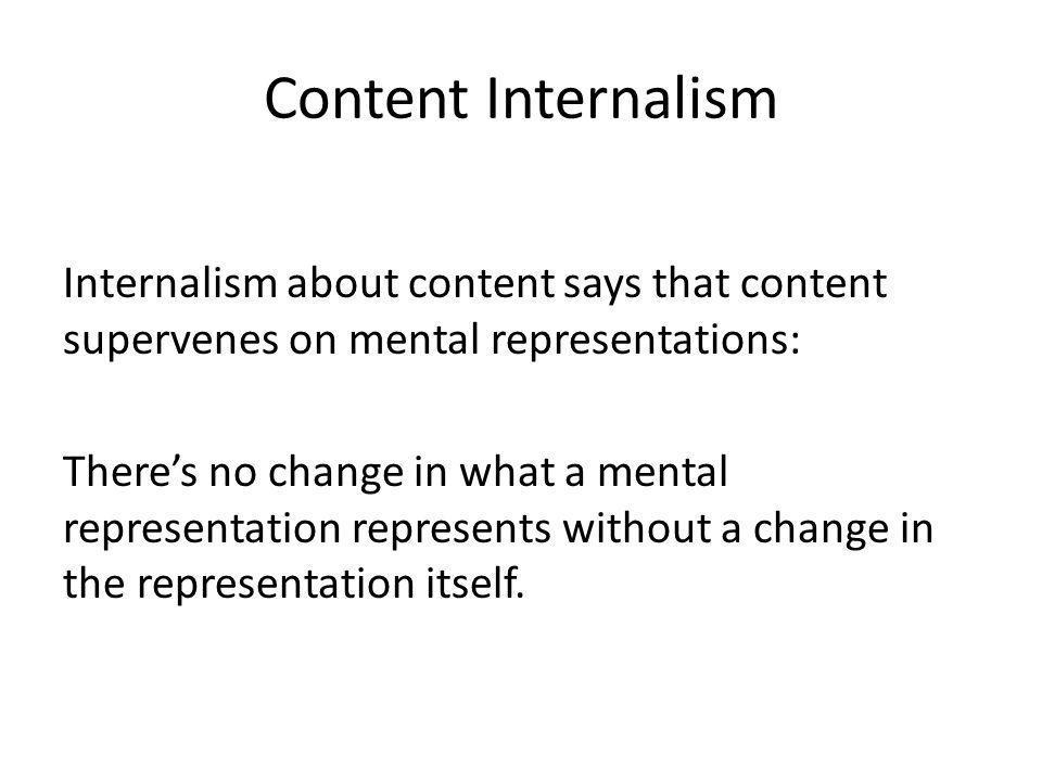 Content Internalism