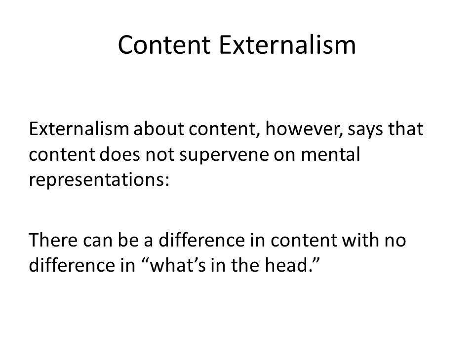 Content Externalism