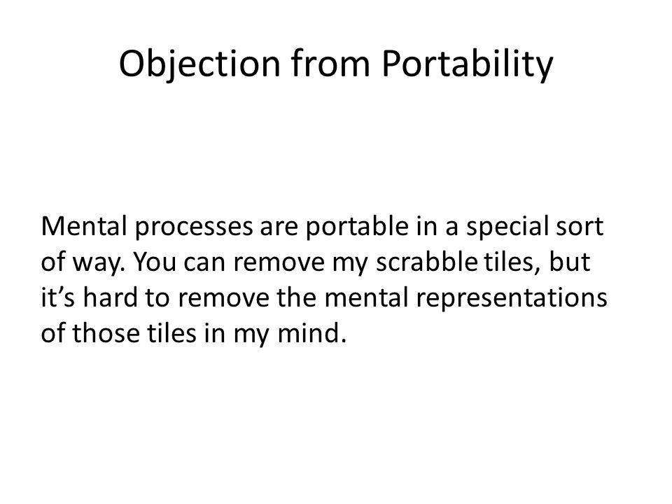 Objection from Portability