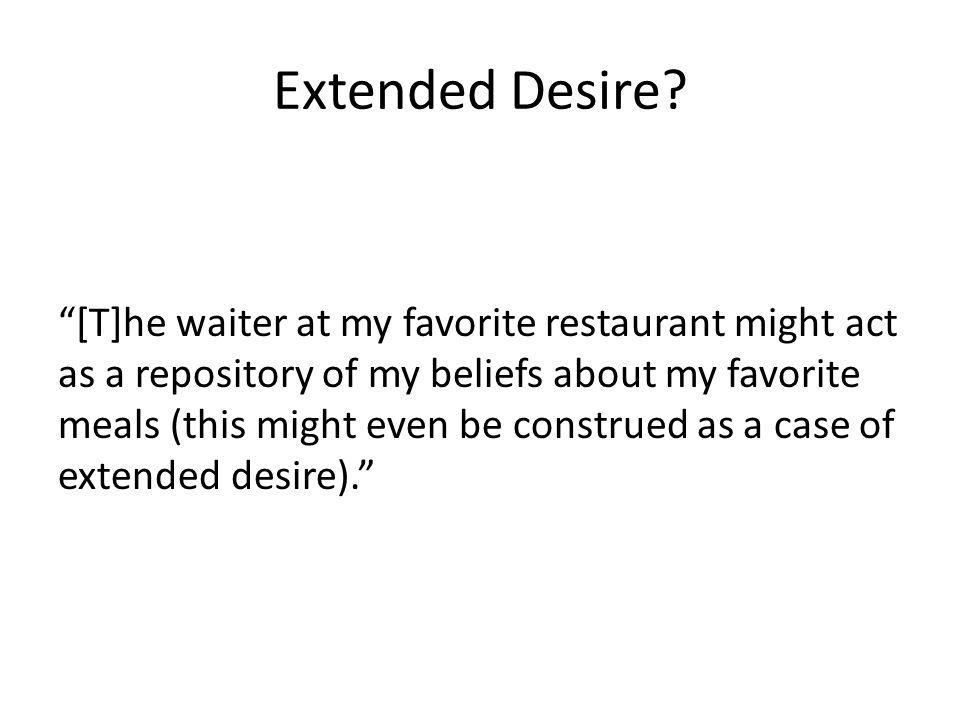 Extended Desire