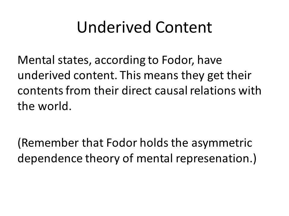 Underived Content