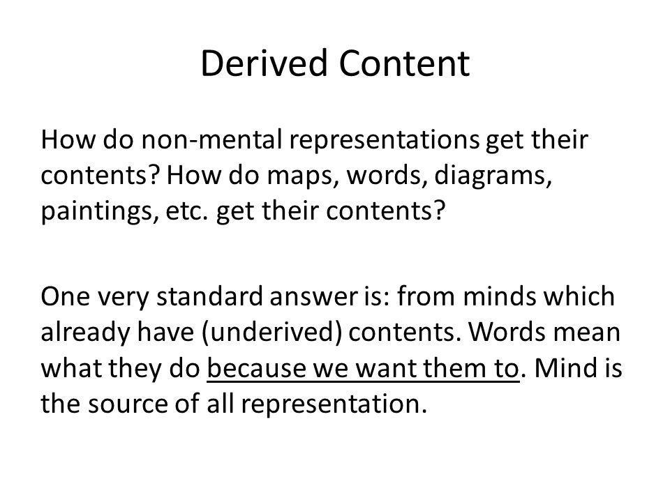 Derived Content