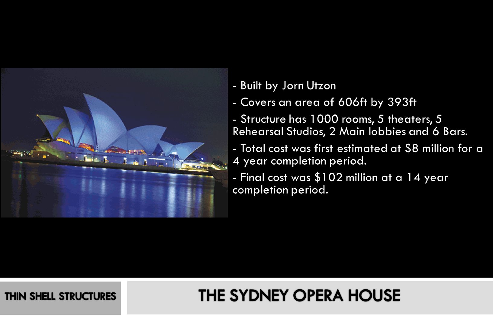 THE SYDNEY OPERA HOUSE - Built by Jorn Utzon