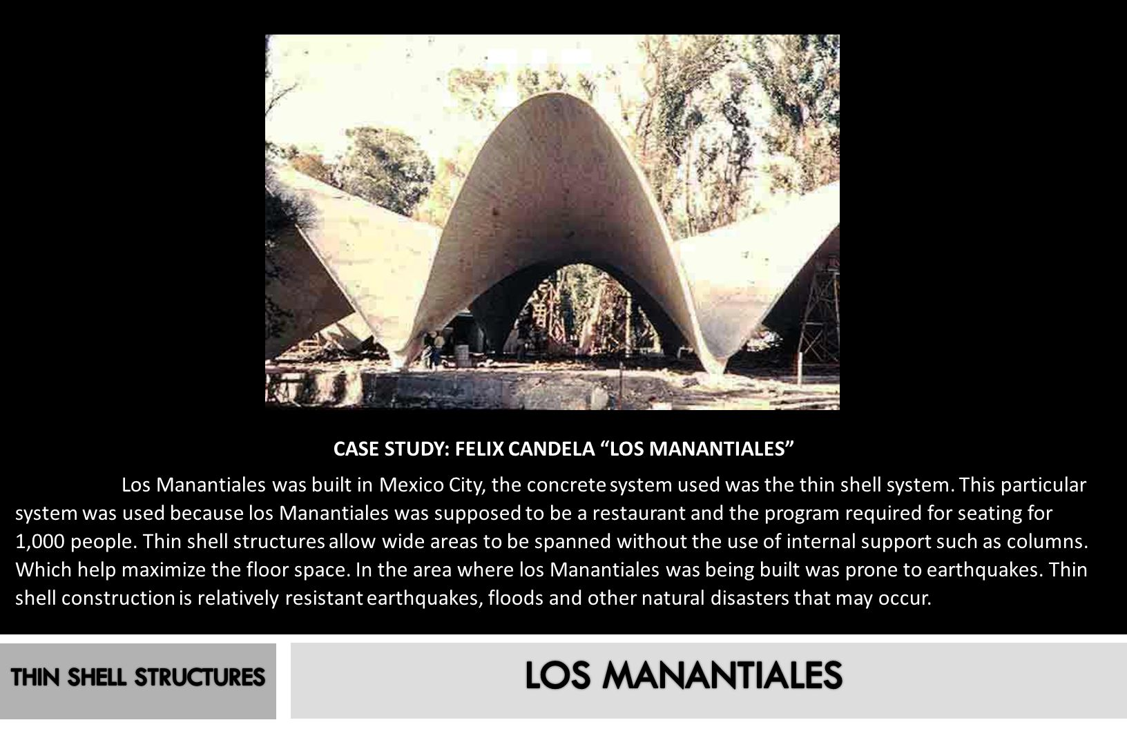 LOS MANANTIALES THIN SHELL STRUCTURES