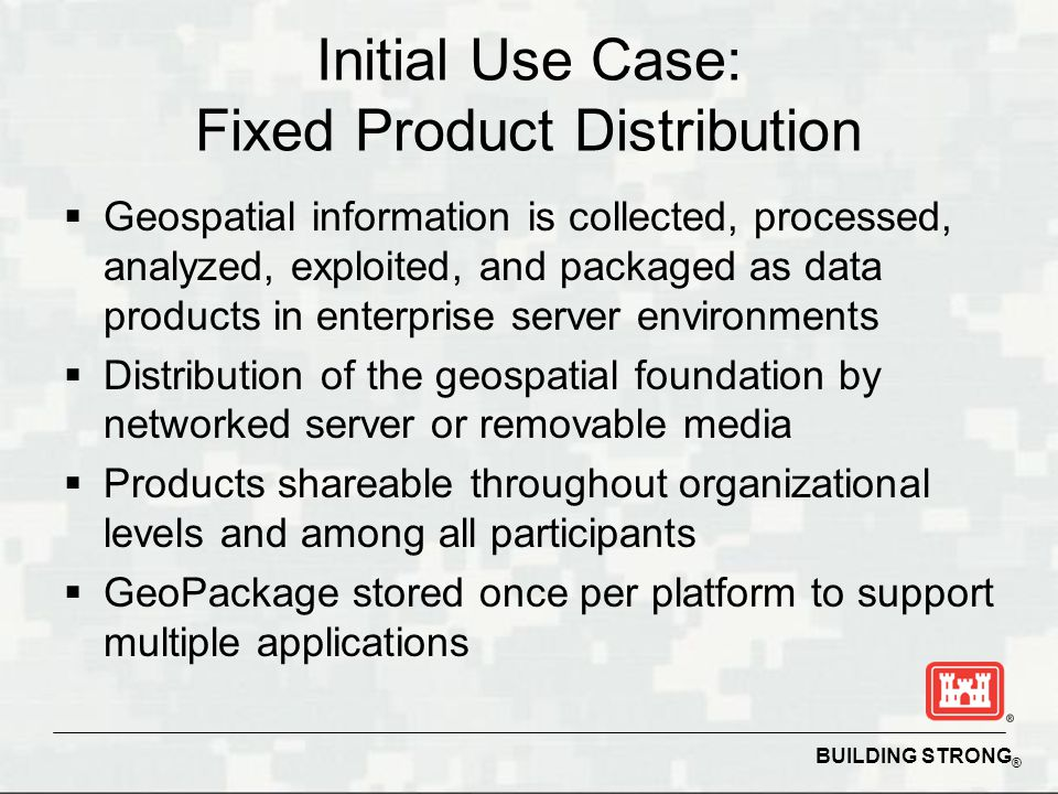 Initial Use Case: Fixed Product Distribution