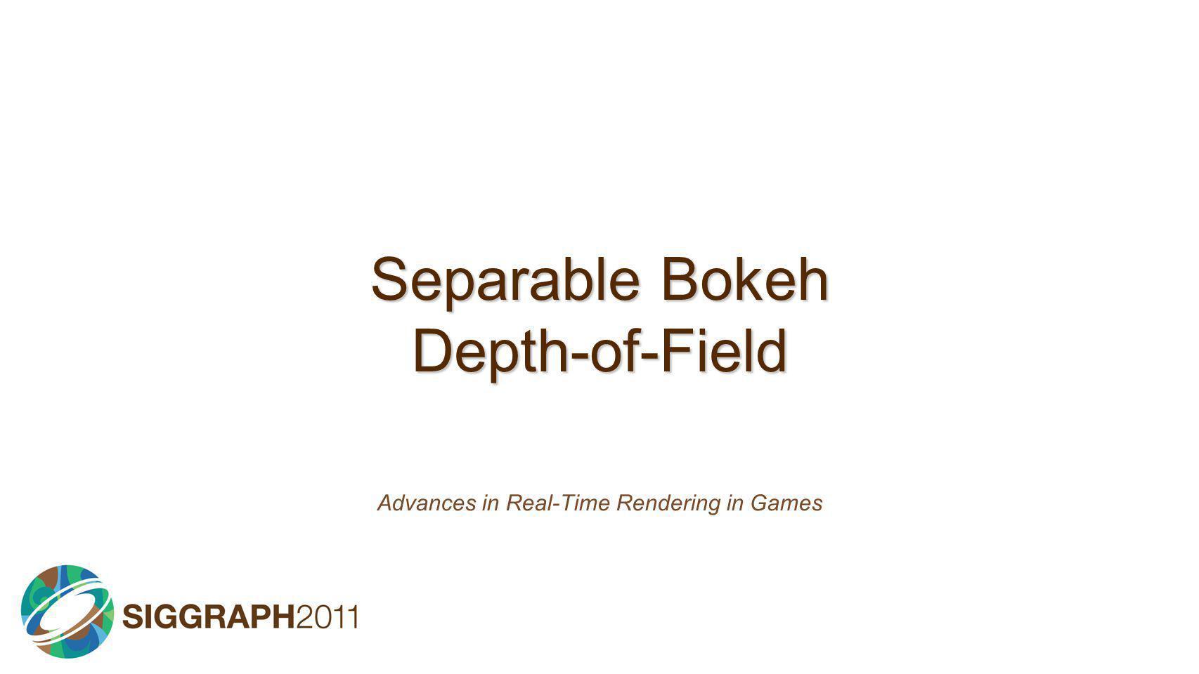 Separable Bokeh Depth-of-Field