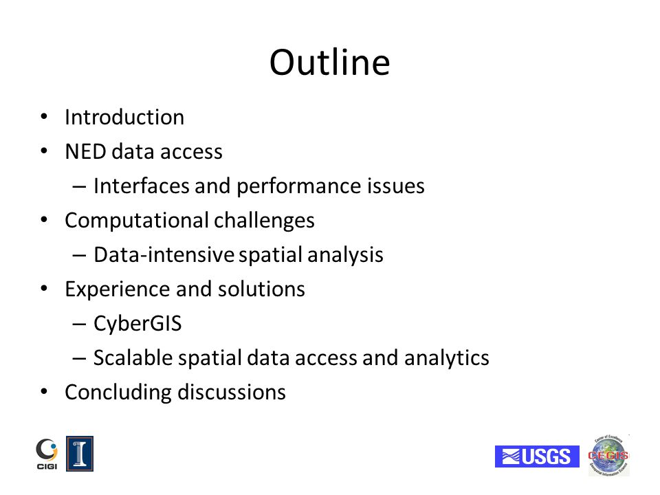 Outline Introduction NED data access Interfaces and performance issues