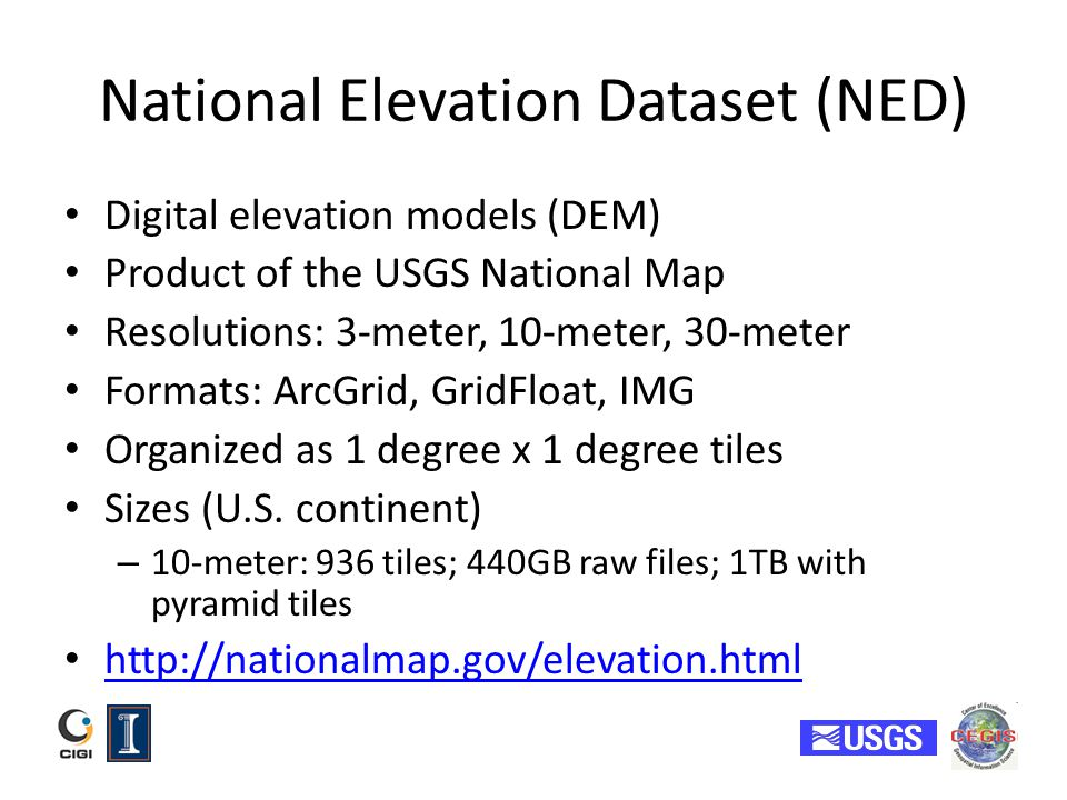 National Elevation Dataset (NED)