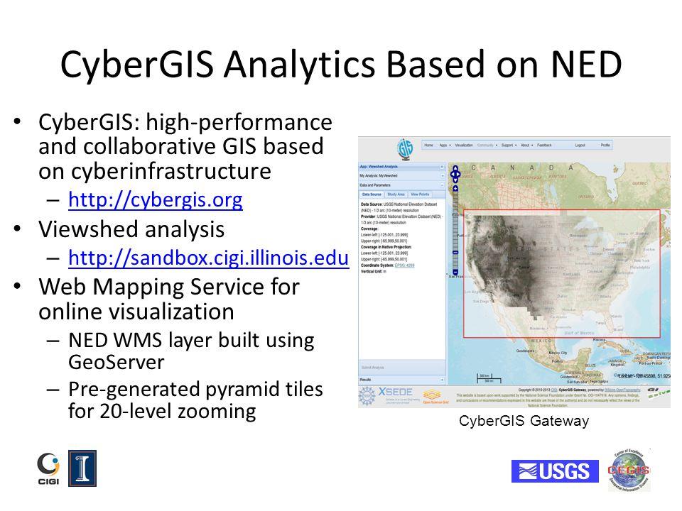 CyberGIS Analytics Based on NED