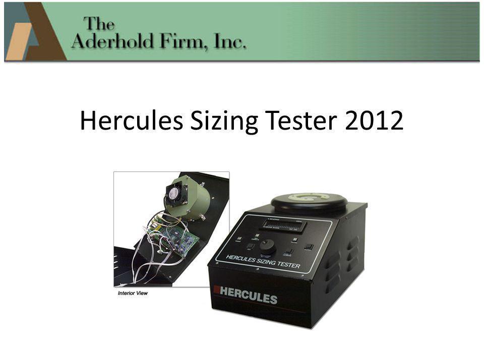 Hercules Sizing Tester 2012