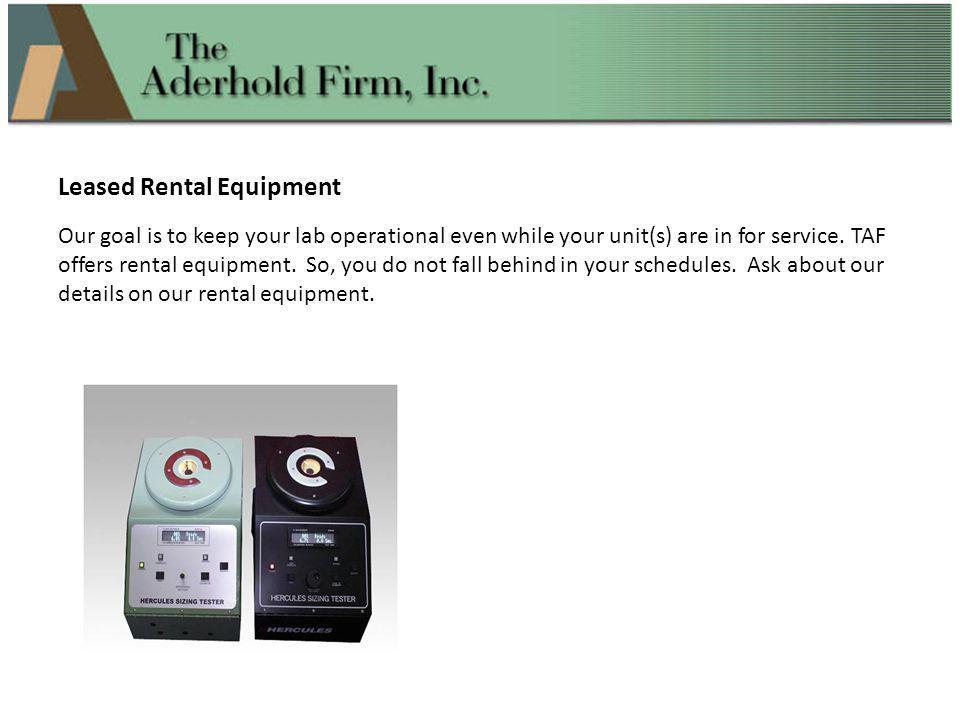 Leased Rental Equipment