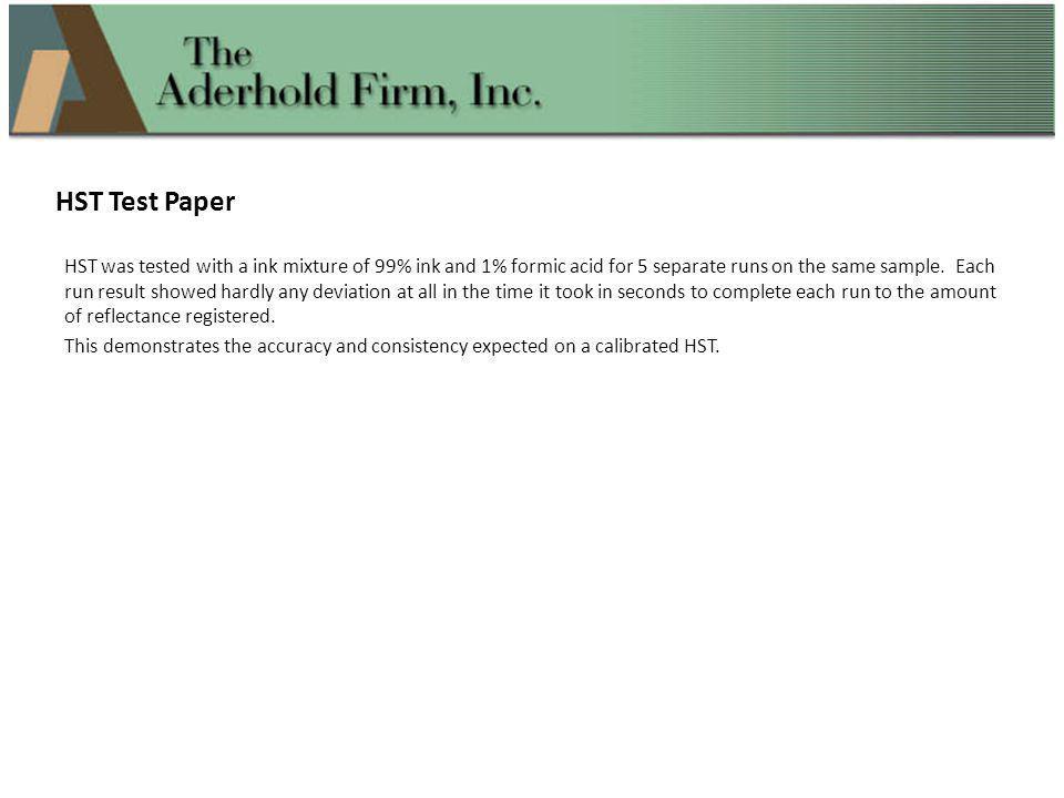 HST Test Paper
