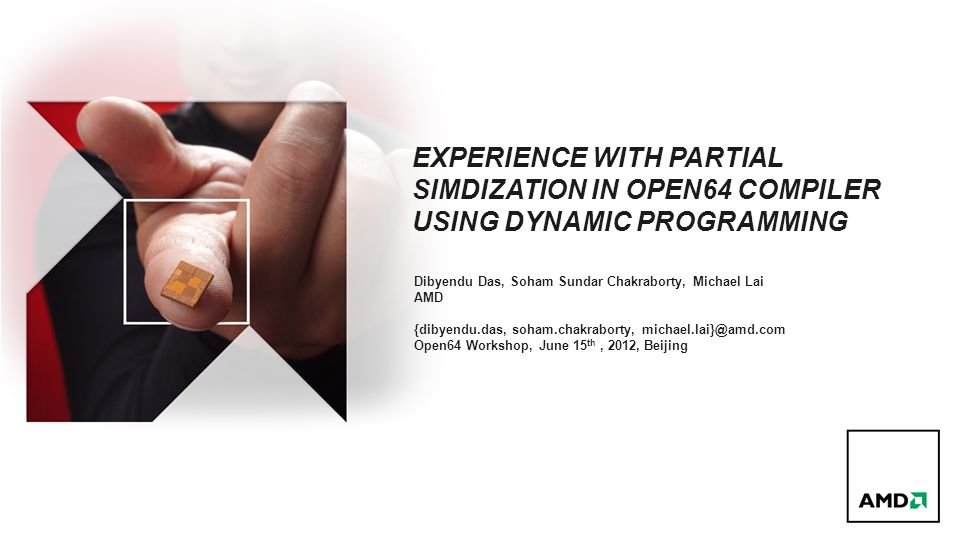 Experience with partial simdization in open64 compiler using dynamic programming