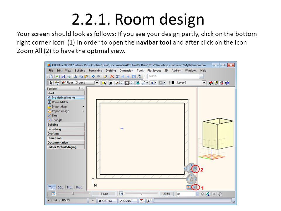 2.2.1. Room design