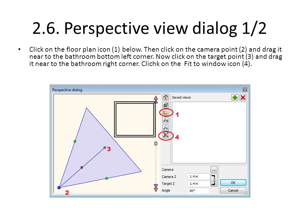 2.6. Perspective view dialog 1/2