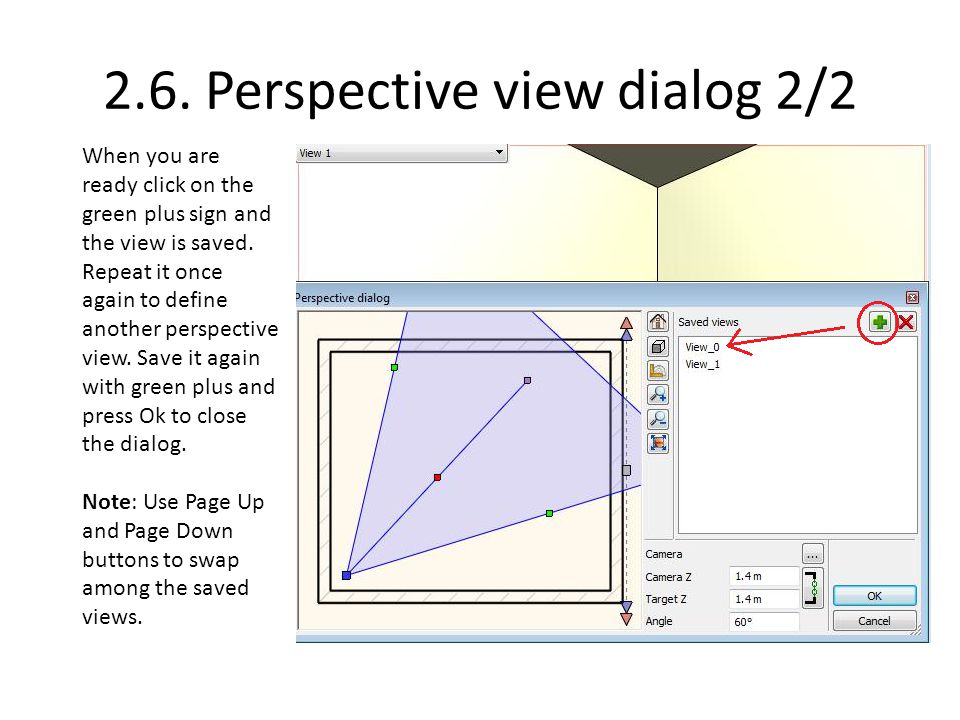 2.6. Perspective view dialog 2/2