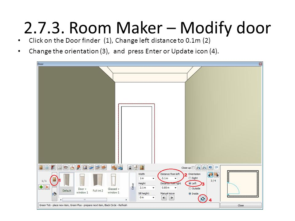 2.7.3. Room Maker – Modify door