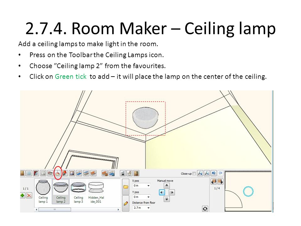 2.7.4. Room Maker – Ceiling lamp