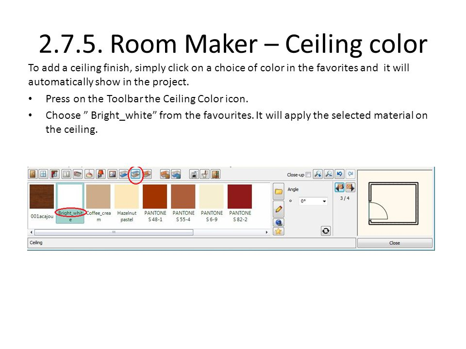 2.7.5. Room Maker – Ceiling color