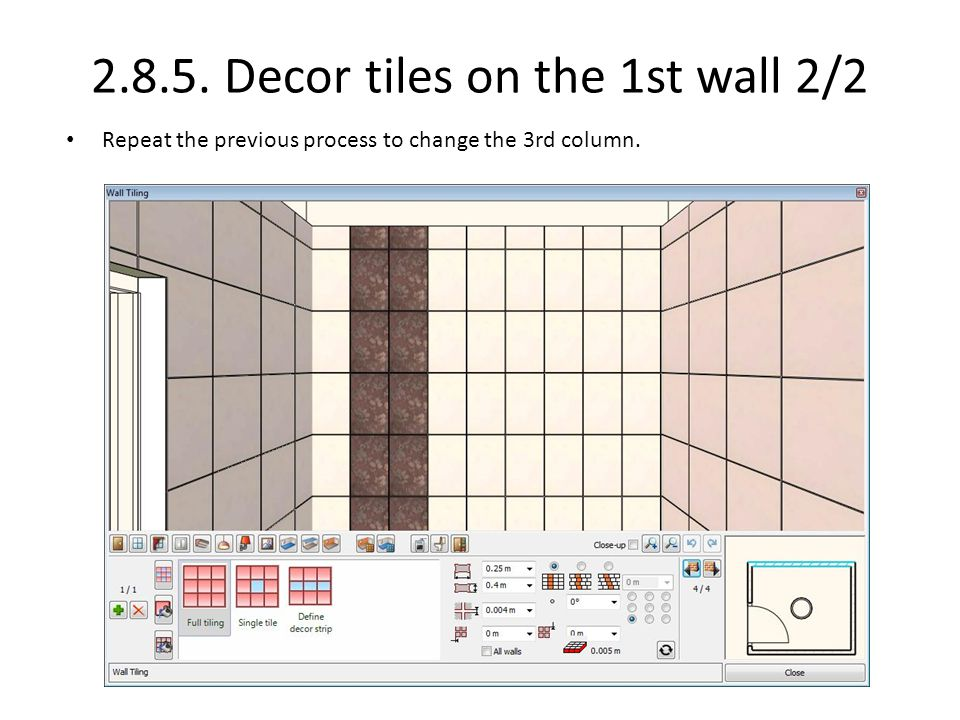 2.8.5. Decor tiles on the 1st wall 2/2