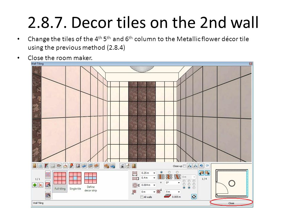 2.8.7. Decor tiles on the 2nd wall
