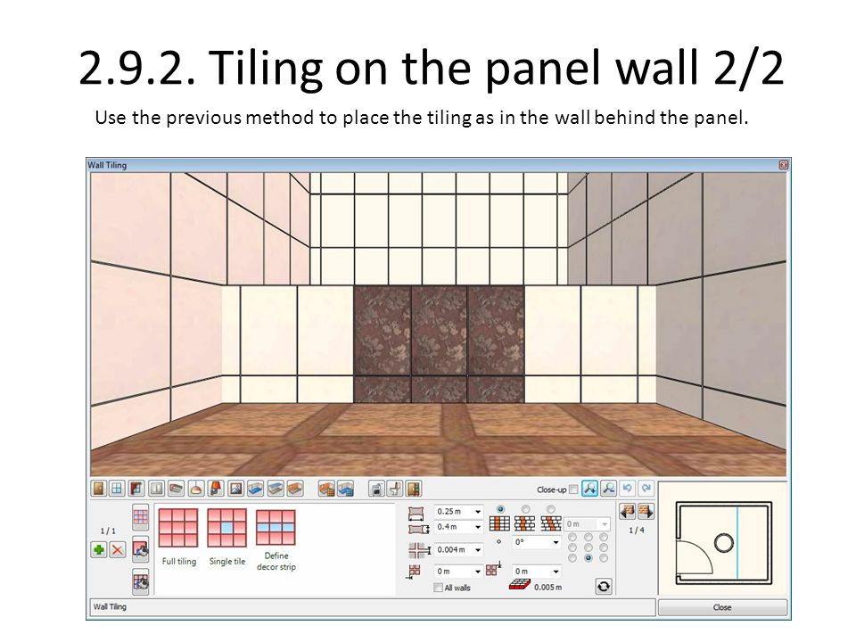 2.9.2. Tiling on the panel wall 2/2
