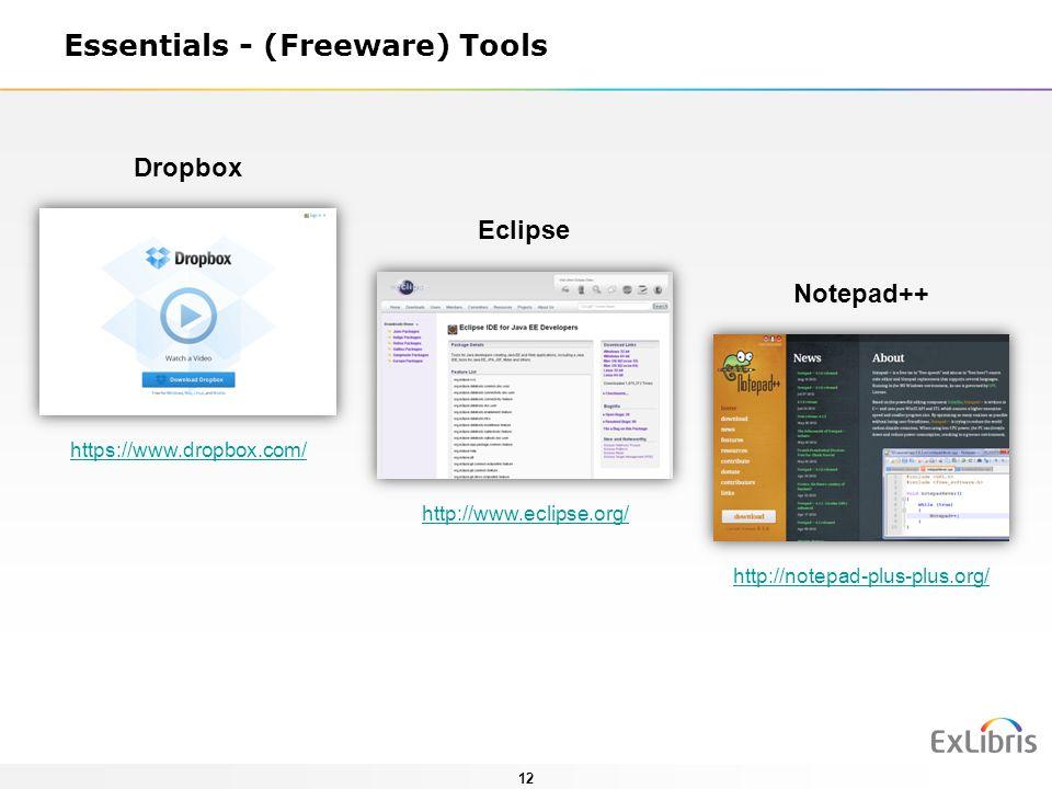 Essentials - (Freeware) Tools