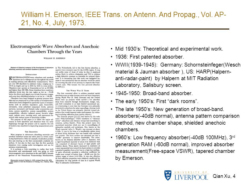 William H. Emerson, IEEE Trans. on Antenn. And Propag., Vol. AP-21, No. 4, July, 1973.
