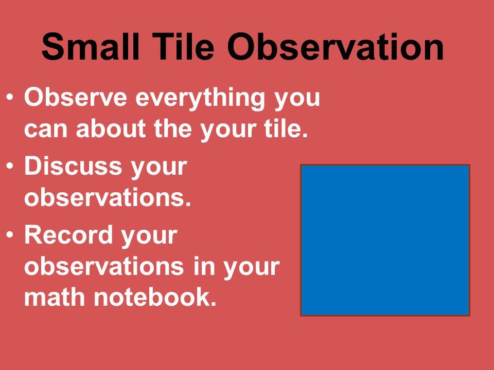 Small Tile Observation