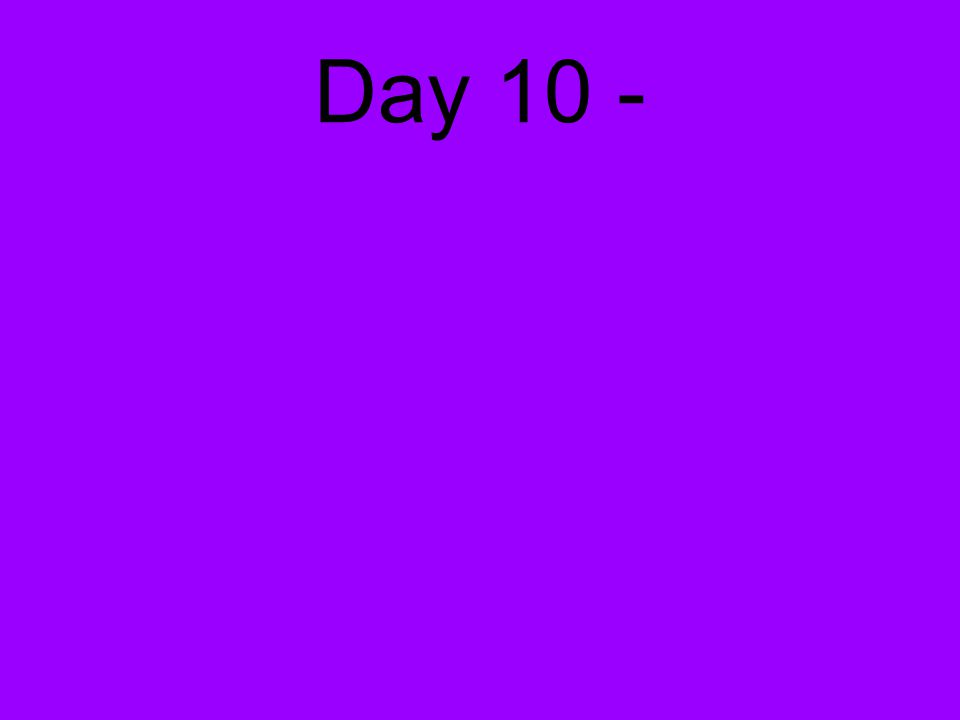 Day 10 -