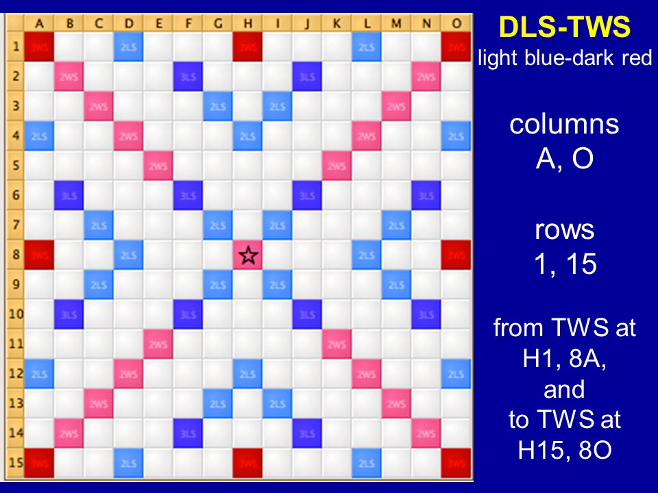 DLS-TWS columns A, O rows 1, 15 from TWS at H1, 8A, and to TWS at