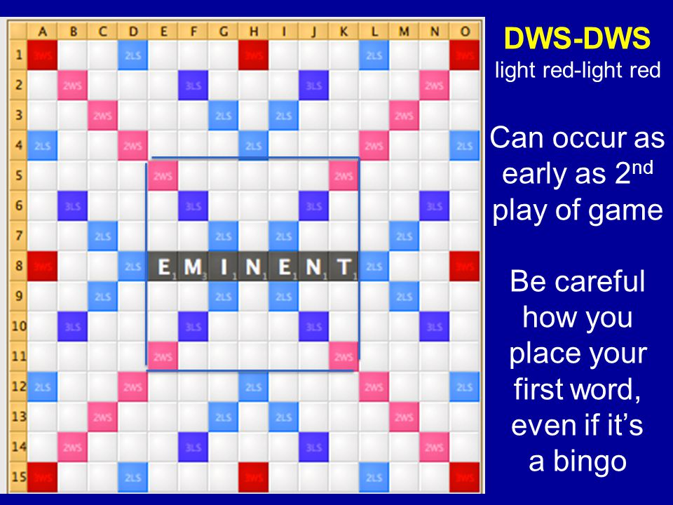DWS-DWS Can occur as early as 2nd play of game Be careful how you