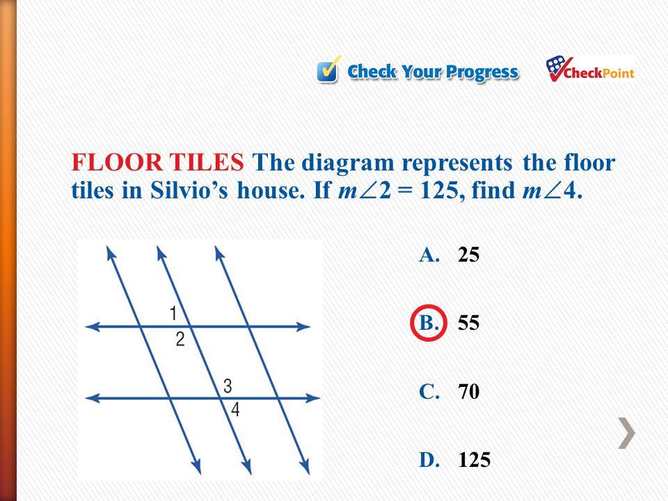 FLOOR TILES The diagram represents the floor tiles in Silvio's house