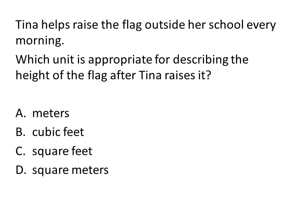 Tina helps raise the flag outside her school every morning.
