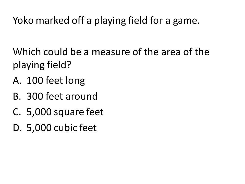 Yoko marked off a playing field for a game.