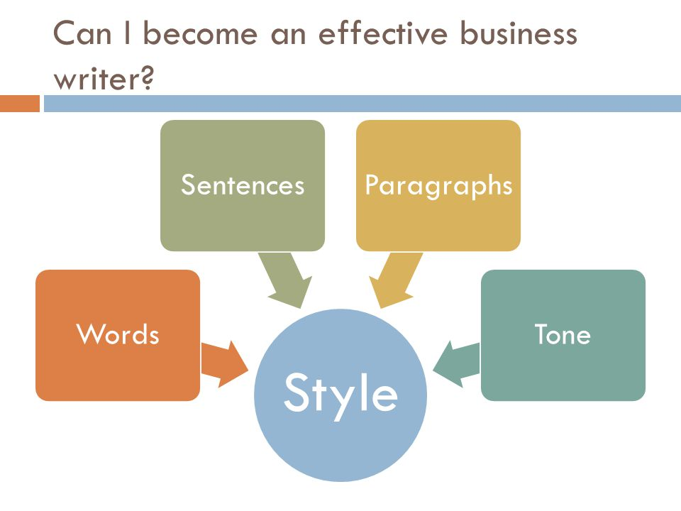 Can I become an effective business writer