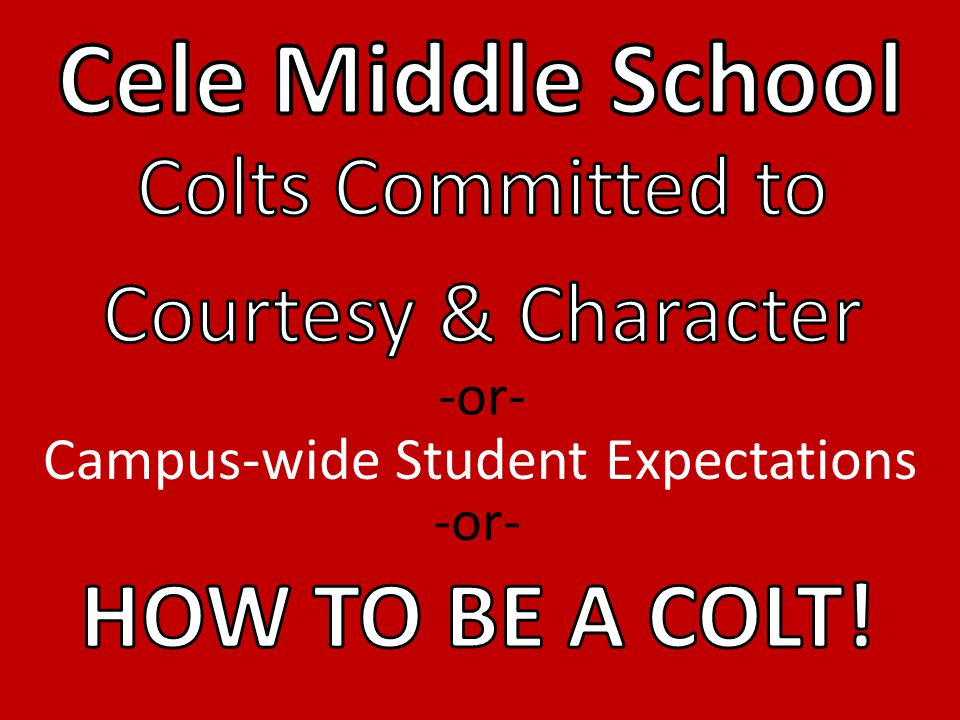 Campus-wide Student Expectations