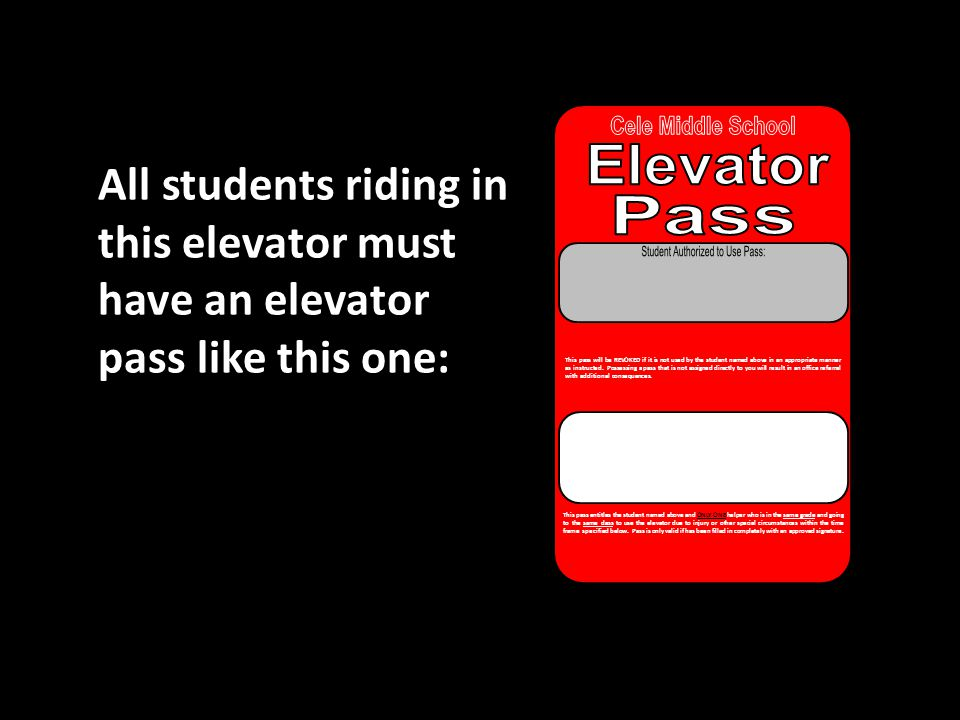 Student Authorized to Use Pass: